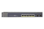 NETGEAR ProSafe 8-port Gigabit PoE+ with 2 SFPs and Max PoE