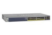 NETGEAR - 24-Port Gigabit L2+ Managed PoE Switch with 4x SFP Slots