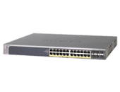 NETGEAR ProSafe 24-port Gigabit L2+ Managed Stackable PoE Switch